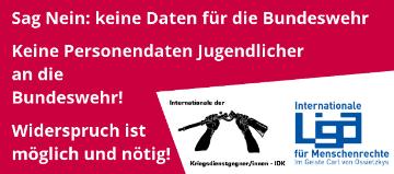 keine Personendaten für die Bundeswehr